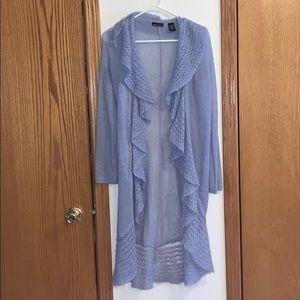 Periwinkle Mohair Moda International Cardigan